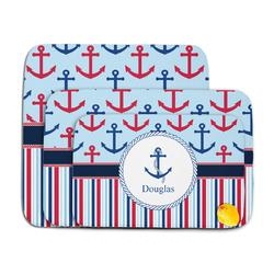 Anchors & Stripes Memory Foam Bath Mat (Personalized)