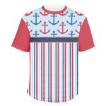 Anchors & Stripes Men's Crew T-Shirt (Personalized)