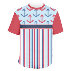 Anchors & Stripes Men's Crew T-Shirt (Personalized)
