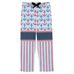 Anchors & Stripes Mens Pajama Pants (Personalized)