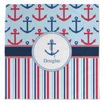 Anchors & Stripes Large Microfiber Dish Rag (Personalized)