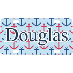 Anchors & Stripes Mini / Bicycle License Plate (Personalized)
