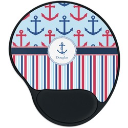 Anchors & Stripes Mouse Pad with Wrist Support