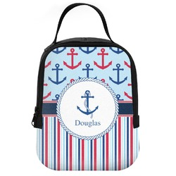 Anchors & Stripes Neoprene Lunch Tote (Personalized)