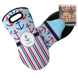 Anchors & Stripes Neoprene Oven Mitt (Personalized)