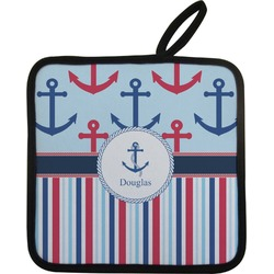 Anchors & Stripes Pot Holder w/ Name or Text