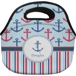 Anchors & Stripes Lunch Bag (Personalized)
