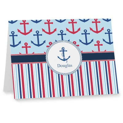 Anchors & Stripes Note cards (Personalized)