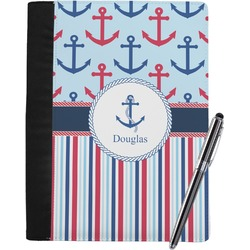 Anchors & Stripes Notebook Padfolio (Personalized)