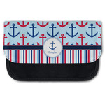 Anchors & Stripes Canvas Pencil Case w/ Name or Text