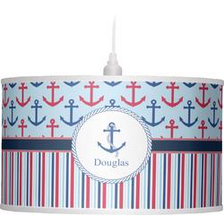 Anchors & Stripes Drum Pendant Lamp (Personalized)