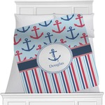 Anchors & Stripes Minky Blanket (Personalized)