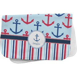 Anchors & Stripes Burp Cloth (Personalized)