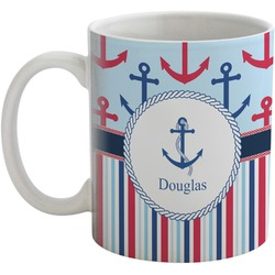 Anchors & Stripes Coffee Mug (Personalized)