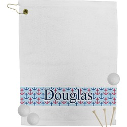 Anchors & Stripes Golf Towel (Personalized)