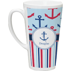 Anchors & Stripes Latte Mug (Personalized)