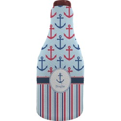 Anchors & Stripes Wine Sleeve (Personalized)