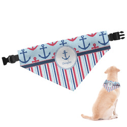 Anchors & Stripes Dog Bandana (Personalized)