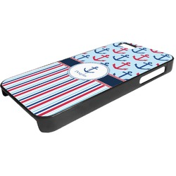 Anchors & Stripes Plastic iPhone 5/5S Phone Case (Personalized)