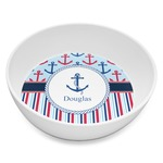 Anchors & Stripes Melamine Bowl 8oz (Personalized)