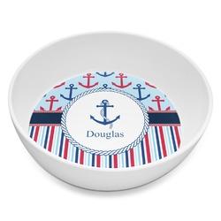 Anchors & Stripes Melamine Bowl 8oz (Personalized)