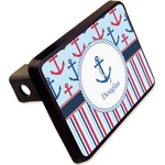 """Anchors & Stripes Rectangular Trailer Hitch Cover - 2"""" (Personalized)"""