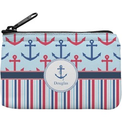Anchors & Stripes Rectangular Coin Purse (Personalized)
