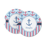 Anchors & Stripes Sandstone Car Coasters (Personalized)