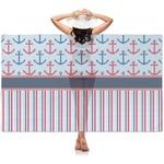 Anchors & Stripes Sheer Sarong (Personalized)