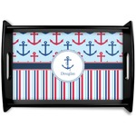 Anchors & Stripes Wooden Trays (Personalized)