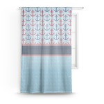 Anchors & Stripes Sheer Curtains (Personalized)