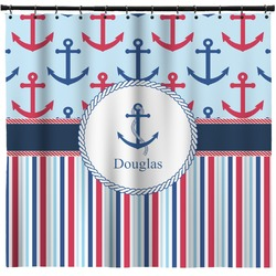 Anchors & Stripes Shower Curtain (Personalized)