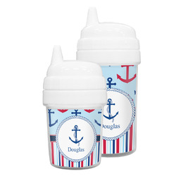Anchors & Stripes Sippy Cup (Personalized)