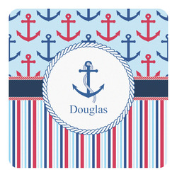 Anchors & Stripes Square Decal - Custom Size (Personalized)