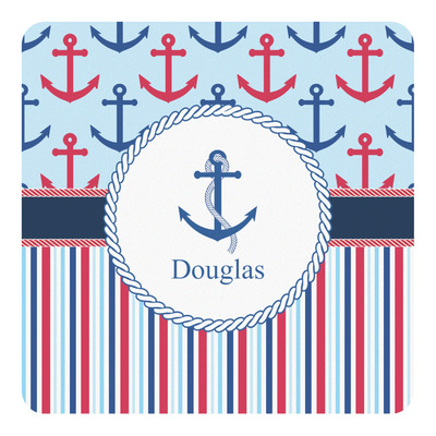 Anchors & Stripes Square Decal (Personalized)
