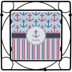 Anchors & Stripes Square Trivet (Personalized)