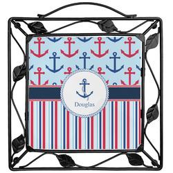 Anchors & Stripes Trivet (Personalized)
