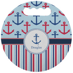 Anchors & Stripes Stadium Cushion (Round) (Personalized)