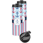 Anchors & Stripes Stainless Steel Skinny Tumbler (Personalized)