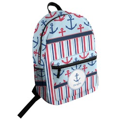 Anchors & Stripes Student Backpack (Personalized)