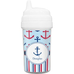 Anchors & Stripes Toddler Sippy Cup (Personalized)