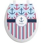 Anchors & Stripes Toilet Seat Decal (Personalized)