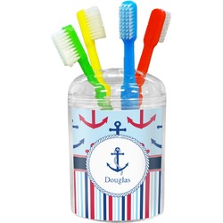 Anchors & Stripes Toothbrush Holder (Personalized)