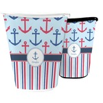 Anchors & Stripes Waste Basket (Personalized)