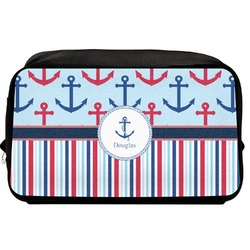 Anchors & Stripes Toiletry Bag / Dopp Kit (Personalized)