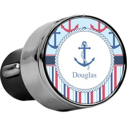 Anchors & Stripes USB Car Charger (Personalized)