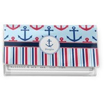Anchors & Stripes Vinyl Checkbook Cover (Personalized)