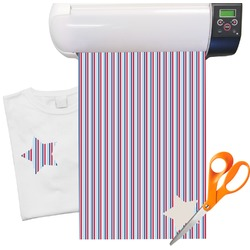 "Anchors & Stripes Heat Transfer Vinyl Sheet (12""x18"")"