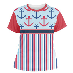 Anchors & Stripes Women's Crew T-Shirt (Personalized)