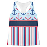 Anchors & Stripes Womens Racerback Tank Top (Personalized)